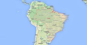 Mapa dos Melhores Destinos Brasil na América do Sul