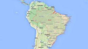 localização do Brasil na América do Sul