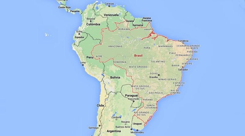 Melhores Destinos localização do Brasil na América do Sul