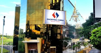 Ciudad del Este no Paraguay shopping China